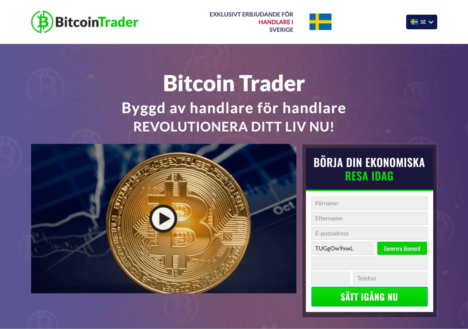 Finansierad Handel Med Bitcoin Kryptovaluta