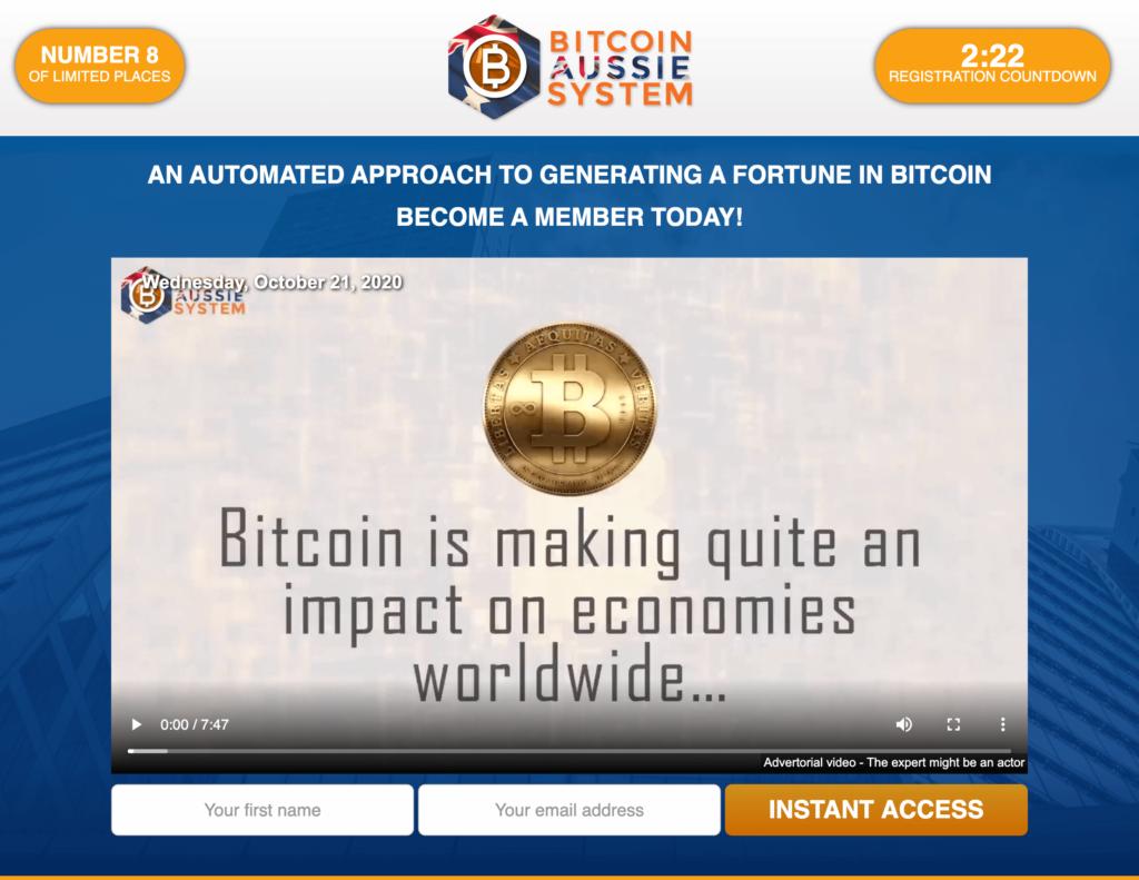 Bitcoin Aussie System - Înșelătorie sau nu? Revizuire Ce este?