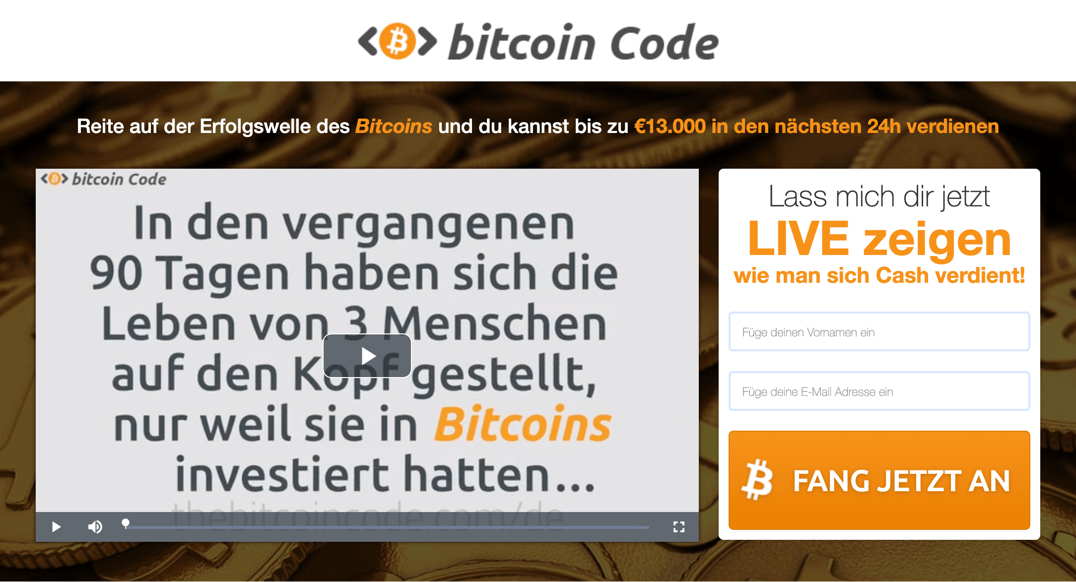 Bitcoin Code Erfahrungen 2021