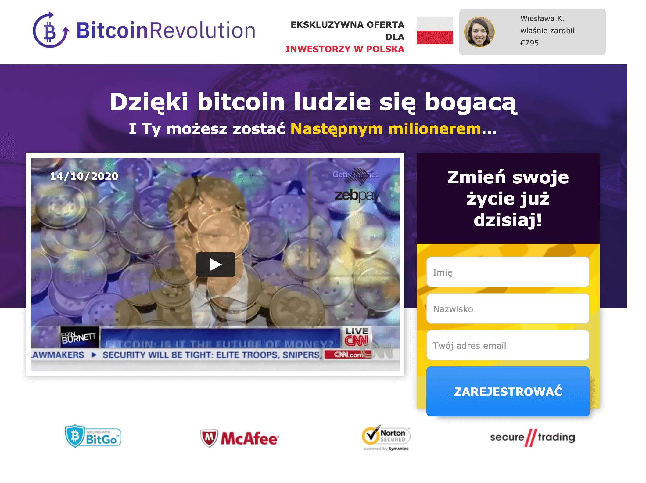 Bitcoin revolution Opinie, Rejestracja, oszustwo, logowanie, forum